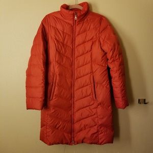 《EDDIE BAUER》♡RED EB 550 DOWN LONG JACKET COAT S